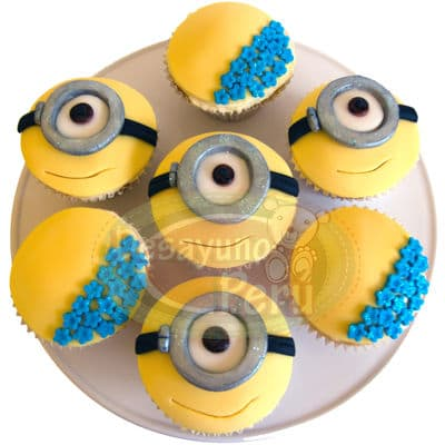 Desayunos infantiles | desayunos a domicilio para niños | Cupcakes Minions - Cod:DNN10