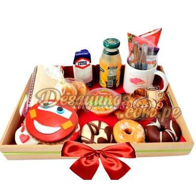 Desayunos para Chicos a Domicilio | Desayuno Cars Rayo - Whatsapp: 980-660044