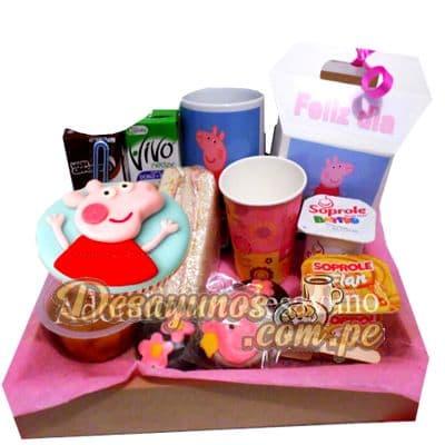 desayunos especiales para niñas | Desayuno Peppa+Taza - Cod:DNN02