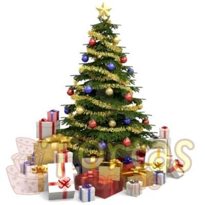 Desayunos Navideños | Arbol de Navidad con Adornos - Cod:DNV08