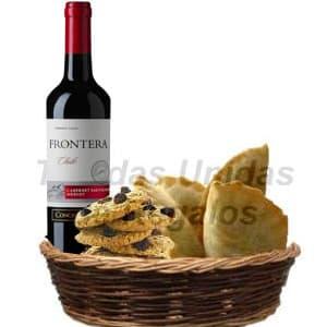 Dia del Padre - Cesta con Vino y Empanadas - Cod:DDP01