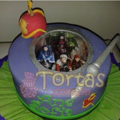 Torta con tema Descendientes - Whatsapp: 980-660044