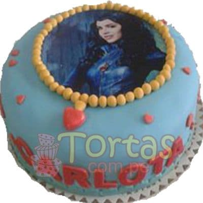 Tortas de los Descendientes | Torta Descendientes Redonda - Whatsapp: 980-660044