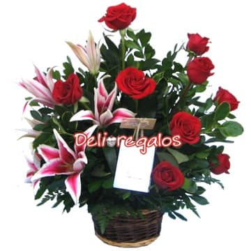 Arreglos de Rosas | Arreglo de Rosas y  Liliums - Cod:ARL05