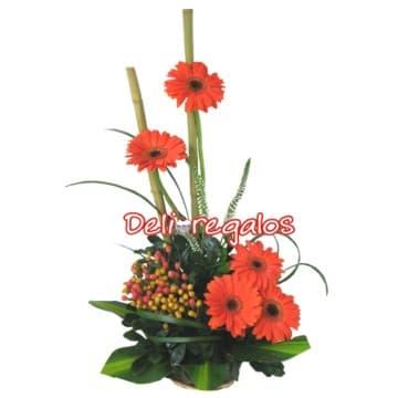 Arreglo de Flores con Gerberas - Cod:AGF15