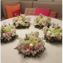 Grameco.com - 5 Centros de Mesa - Codigo:AGP17 - Detalles: Elegantes centros de mesa de flores variadas en base ceramica, son 5 arreglos   - - Para mayores informes llamenos al Telf: 225-5120 o 476-0753.