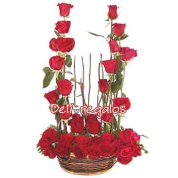 Arreglo de Rosas Importadas Rojas - Cod:ARL24