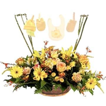Arreglos para Nacimientos | Flores para Recien Nacido Varon - Cod:AGN32