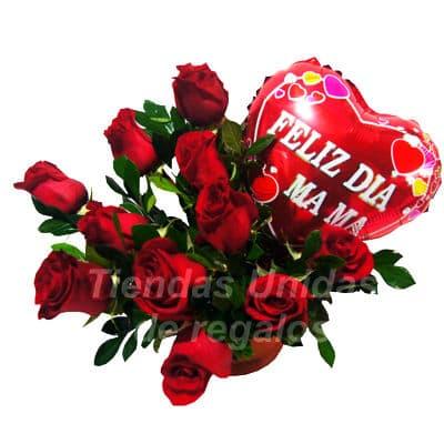 grameco.com - Rosas Importadas con Globo para Mama - Codigo:ARL42 - Detalles: Impresionante arreglo floral a base de 10 rosas importadas con follaje segun imagen, el presente esta en base ceramica e incluye un globo Grande de 20cm de diametro metalico con mensaje Feliz dia Mama - - Para mayores informes llamenos al Telf: 225-5120 o 476-0753.