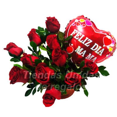 Rosas Importadas con Globo para Mama - Whatsapp: 980-660044