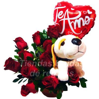Rosas Importadas Peluche y Globo - Cod:ARL45