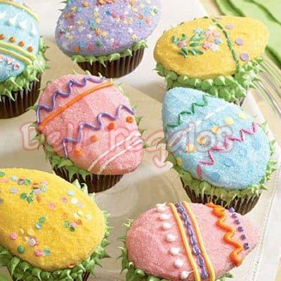 Canastas de Regalo para la Semana Santa | Cupcakes para Pascuas - Cod:EAS11