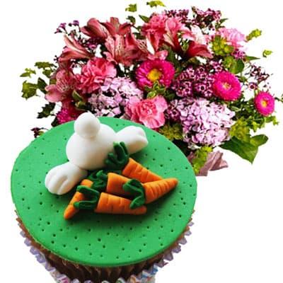 Arreglo y Cupcakes de Pascua - Cod:EAS02