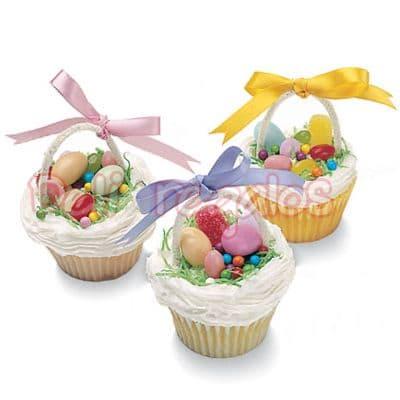 3 Muffins Deluxe de Pascuas | Cupcakes de Pascuas - Cod:EAS05