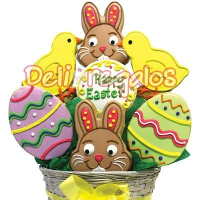 ¡Regalo de Pascuas! Arreglo de Galletas de Pascua | Regalos de Pascua - Cod:EAS08