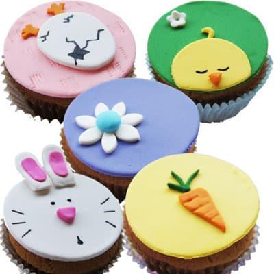 Regalos de Pascua naturales y atractivos | 5 Cupcakes de Pascuas - Cod:EAS13