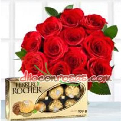 Ramo de Rosas y Chocolate - Whatsapp: 980-660044