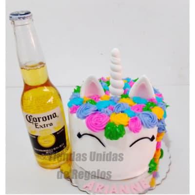 Tortas Peru | Torta Unicornio y Corona - Cod:ENP07