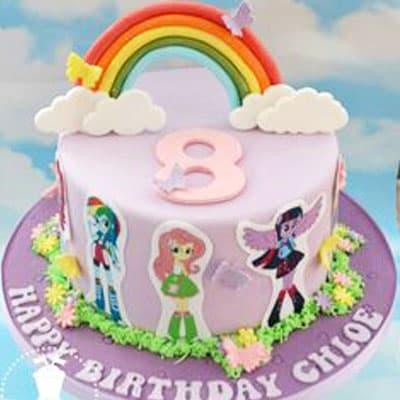 Torta de Equestria Girls | Tortas temáticas | Torta Equestria girl 02 - Whatsapp: 980-660044