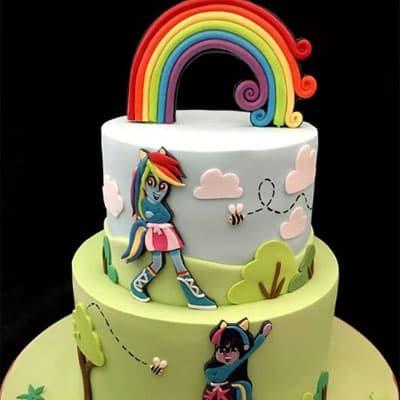 torta de cumpleaños de equestria girl | Torta Equestria girl 06 - Whatsapp: 980-660044
