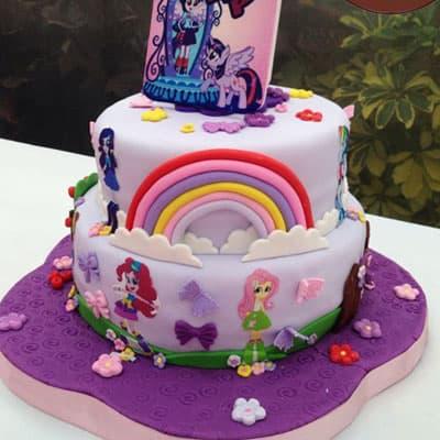 Torta equestria girls | Tortas infantiles | Torta Equestria girl 08 - Whatsapp: 980-660044