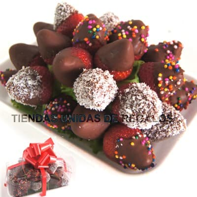 Chocolates Delivery Lima | Fresas Con Chocolate y Grageas - Cod:FCC03