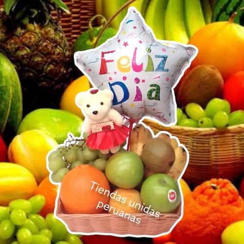 Canastas de Frutas para regalar | Cesta de frutas y Chocolate - Cod:FCC16