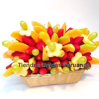 Arreglos Frutales Delivery | Frutero Especial con Fresas - Cod:FCF09