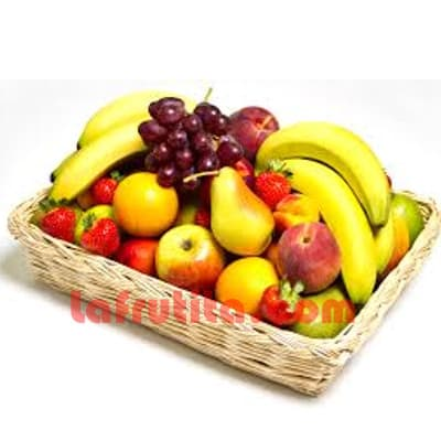Frutero Esepecial en canasta | Regalos Light Delivery  - Whatsapp: 980-660044