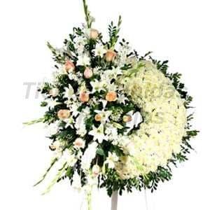 Arreglos Funebres | Delivery de Corona Funeraria | Floreria Funebre - Cod:FNB08