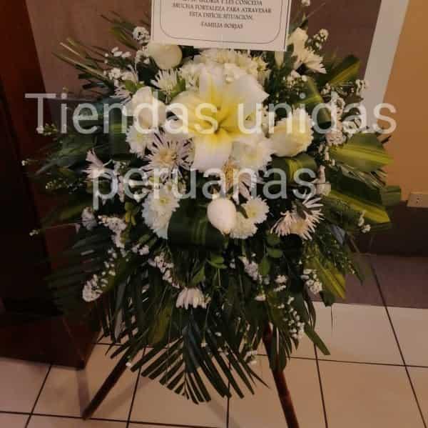 Envio Coronas Funerarias | Flores Funebres a domilcilio | Coronas Fúnebres - Cod:FNB17