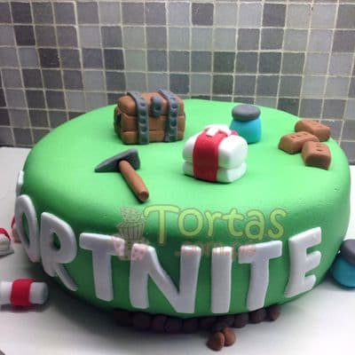 Torta Fortnite para el | Torta Tema Fortnite - Whatsapp: 980-660044