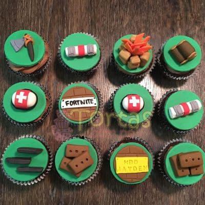 Cupcakes Fornite Especial | imágenes de Fortnite | Diseños de tortas - Whatsapp: 980-660044