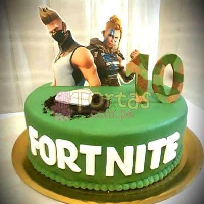 Torta de Fortnite | Torta de tematica Fortnite  - Whatsapp: 980-660044