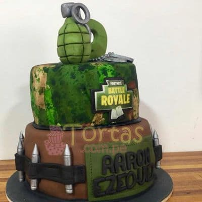 Torta de Fornite | Torta Fornite de dos pisos - Cod:FNC14