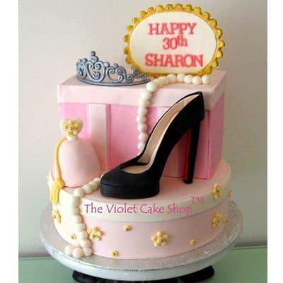 Torta Zapato Rosado | Torta zapato | Tortas de maquillaje - Cod:FSH09