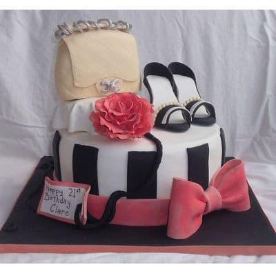 Torta Bolso y Zapatos | Torta En Forma De Cartera - Cod:FSH11
