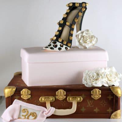 Torta Maleta y Zapato Fashion | Torta maleta de viaje! - Dilo con pasteles - Cod:FSH15