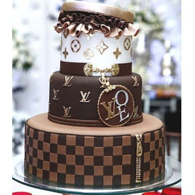 Torta Fashion de dos pisos | Tortas para damas - Cod:FSH17