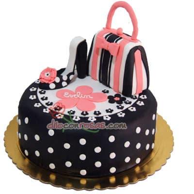 Torta Fashion Zapato y Bolso | Torta para Señoritas - Cod:FSH21