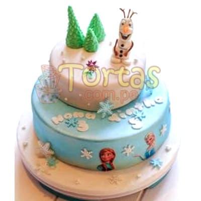 Tortas Frozen | Torta con tema Frozen  - Cod:FSK01