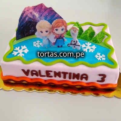 Torta del tema Frozen | Tortas de la frozen - Cod:FSK04