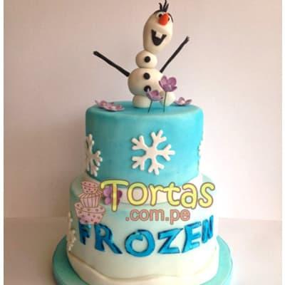 Torta de frozen | Torta con tematica Frozen - Cod:FSK05