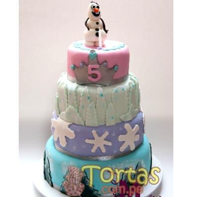 Torta tematica Frozen | Tortas de frozen - Cod:FSK08