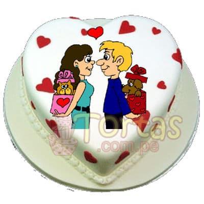 Torta con FotoImpresion de 23cm Corazon - Whatsapp: 980-660044