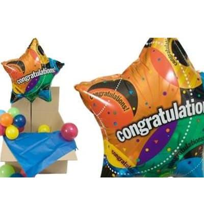 lafrutita.com - Globos con Helio en Caja - Codigo:GBH03 - Detalles: Hermosa caja sorpresa compuesto por  1 globo metalico con el texto Felicitaciones , que al momento de abrir la caja los globos se elevaran ya que es inflado con gas Helio, incluye globos multicolores  (los globos multicolores no estan inflados con helio). Este producto es necesario ordenarlo con 4 d�as de Anticipaci�n. - - Para mayores informes llamenos al Telf: 225-5120 o 476-0753.
