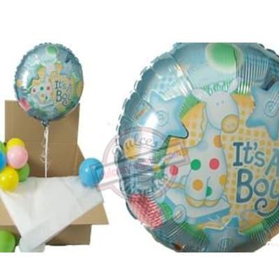 lafrutita.com - Caja Sorpresa con Globo Gigante - Codigo:GBH05 - Detalles: Hermosa caja sorpresa compuesto por  1 globo metalico con el texto It�s  a BOY, que al momento de abrir la caja los globos se elevaran ya que es inflado con gas Helio, incluye globos multicolores  (los globos multicolores no estan inflados con helio). Este producto es necesario ordenarlo con 4 d�as de Anticipaci�n. - - Para mayores informes llamenos al Telf: 225-5120 o 476-0753.