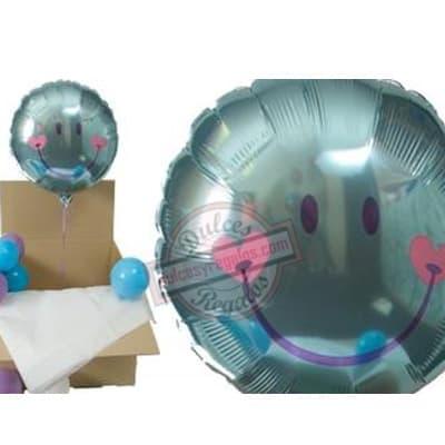 lafrutita.com - Globo Grande con Helio en Caja - Codigo:GBH06 - Detalles: Hermosa caja sorpresa compuesto por  1 globo metalico de Carita Feliz, que al momento de abrir la caja los globos se elevaran ya que es inflado con gas Helio, incluye globos multicolores  (los globos multicolores no estan inflados con helio). Este producto es necesario ordenarlo con 4 d�as de Anticipaci�n. - - Para mayores informes llamenos al Telf: 225-5120 o 476-0753.