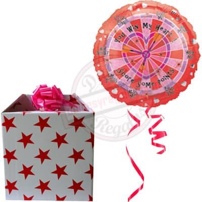 lafrutita.com - Caja Sorpresa con Globos - Codigo:GBH08 - Detalles: Hermosa caja sorpresa compuesto por  1 globo metalico con el texto LOVE, que al momento de abrir la caja los globos se elevaran ya que es inflado con gas Helio, incluye globos multicolores  (los globos multicolores no estan inflados con helio). Este producto es necesario ordenarlo con 4 d�as de Anticipaci�n. - - Para mayores informes llamenos al Telf: 225-5120 o 476-0753.