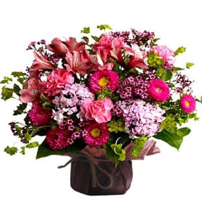 lafrutita.com - Arreglo de Flores Especial - Codigo:GBH10 - Detalles: -OFERTA- floral en base ceramica, el color de las flores es referencial. - - Para mayores informes llamenos al Telf: 225-5120 o 476-0753.